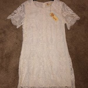 Brand new off White lace Aryeh Dress.